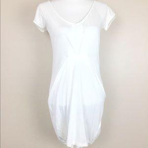 Zara Women's White Tunic Top Cotton Beach NWT Sz M